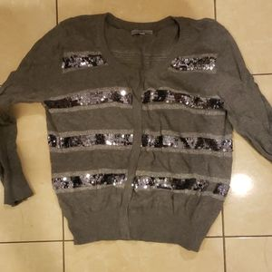 Charlotte Russell med sequined holiday cardigan